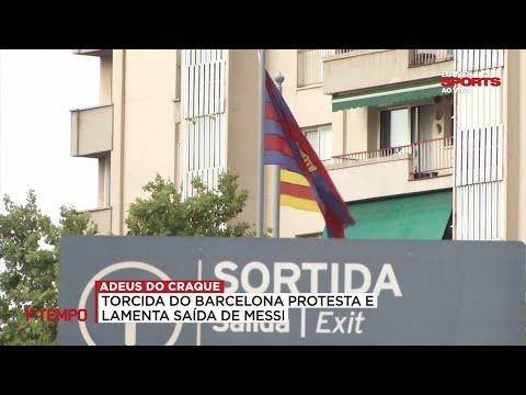 DESPEDIDA DO CRAQUE: PRIMEIRO TEMPO MOSTRA REAÇÕES DA TORCIDA DO BARCELONA COM SAÍDA DE MESSI