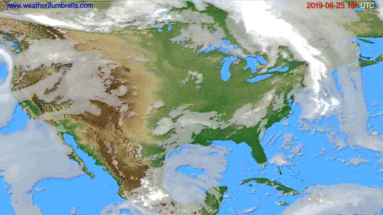 Cloud forecast USA & Canada // modelrun: 12h UTC 2019-06-22