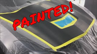 C7 Corvette Accident Repair.  PAINTED!