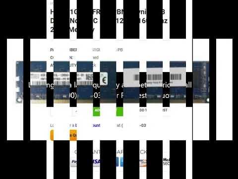 HMT41GU6AFR8A-PBN0 Hynix 8GB DDR3 Non ECC PC3-12800 1600Mhz 2Rx8 Memory