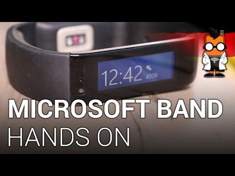 Microsoft Band Fitness-Tracker & Smartwatch im Hands-On [DEUTSCH]