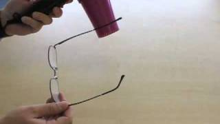 How to adjust the arms on glasses with metal frames