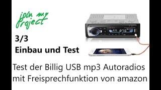 Billig USB mp3 Autoradio mit Bluetooth Freisprechfunktion | Einbau und Test | Teil 3/3