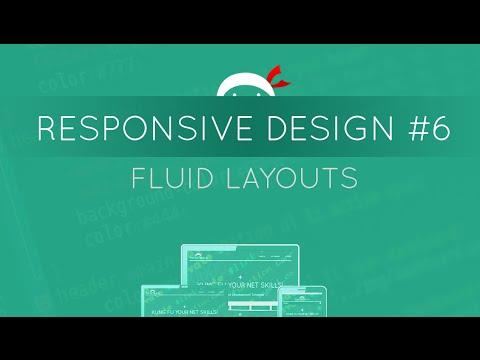 Responsive Web Design Tutorial #6 - Fluid Layouts
