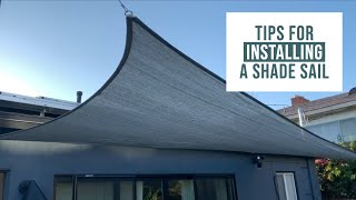 How to Install a Shade Sail with DIY Cable Railing and a few tips to make it go smoothly | Tutorial