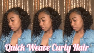 Curly Bob Quick Weave Ft Organique Shake N Go