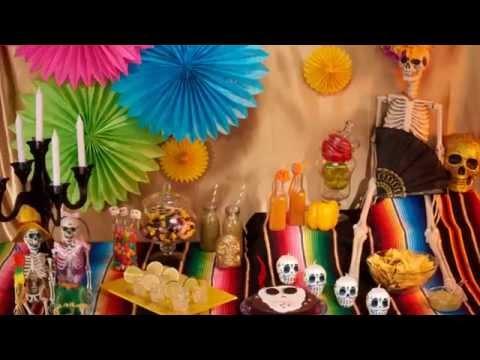 Décoration halloween thème Dia de los Muertos