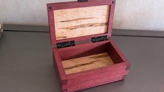 Making A Keepsake Box Out Of Purple Heart, Ambrosia Maple, & Ebony