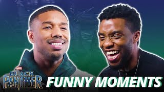 Chadwick Boseman & Michael B. Jordan - Funny Moments (Black Panther)