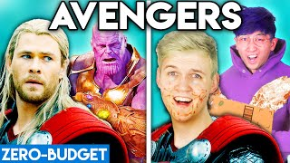 AVENGERS WITH ZERO BUDGET! (Thor vs. Thanos PARODY)
