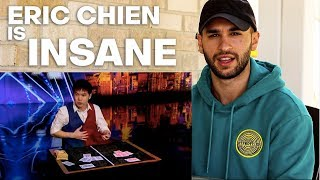 Magician REACTS to Eric Chien Ribbon Act on AGT 2019