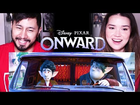 ONWARD Official Teaser Trailer Reaction by Jaby Koay & Achara | Pixar | Chris Pratt | Tom Holland