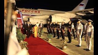 Прибытие Путина в Нью- Дели для участия в 19- м саммите Индии и России