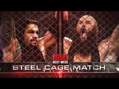 Roman Reigns vs Braun Strowman Steel Cage match Kane Returns W