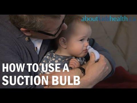 How to use a nasal aspirator or suction bulb/Poire aspirante ou mouche-bébé: mode d'emploi