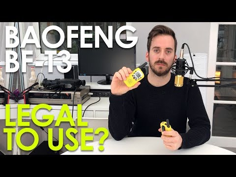 Baofeng BF-T3 £6 Walkie Talkies – Setup & Review – Illegal To Use?