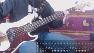 Tribute week to Dolores O'Riordan - 04 - The Cranberries - Salvation [Bass Cover + Tab]