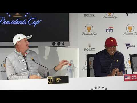 Tiger Woods and Ernie Els ahead of the 2019 Presidents Cup