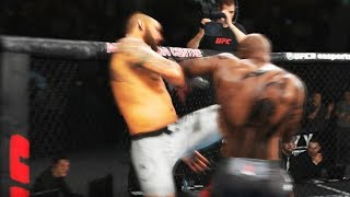 REQUIS PUNCHES OPPONENT INTO THE AIR