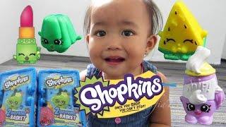 Mainan anak - Funny Baby challenge Shopkins Basket Session 1 @LifiaTubeHD