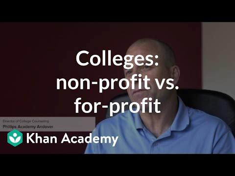 Comparing nonprofit vs  for profit colleges