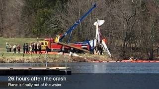 Small plane removed from lake after crash