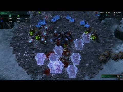 Watch StarCraft II: Heart Of The Swarm's Upgraded Protoss And Zerg Units Duke It Out