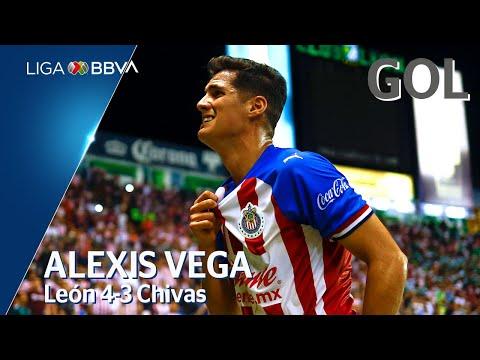 Gol de A. Vega | León 4 - 3 Guadalajara | Liga MX - Apertura 2019  - Jornada 5
