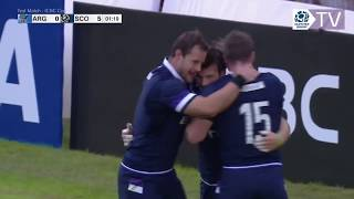 Test match, highlights Argentina-Scozia