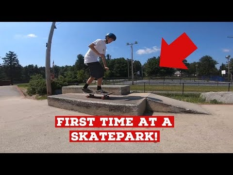 FIRST TIME AT A SKATEPARK! (Fitchburg Skatepark)