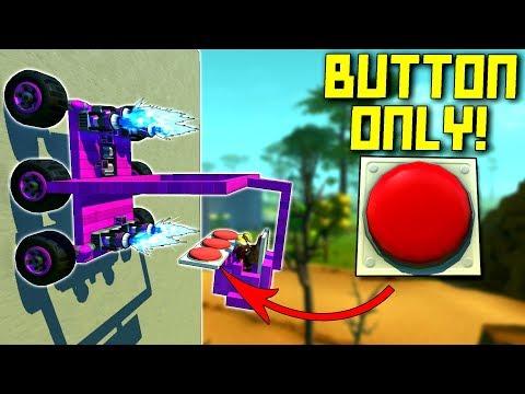 Big Red Buttons Only + No Seat + WALL CLIMBING!? halp... - Scrap Mechanic Multiplayer Monday