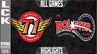 SKT vs KT Highlights ALL GAMES | LCK Playoffs Round 2 Spring 2018 | SK Telecom T1 vs KT Rolster