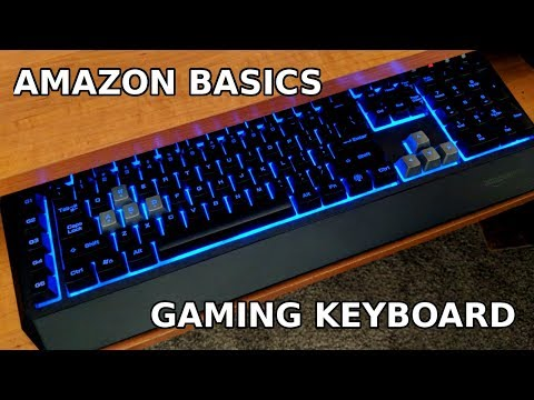 Amazon Gaming Keyboard Review (Back lit + RGB!)