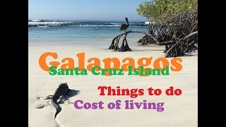 Galapagos Santa Cruz Island Cost of Living Things to Do