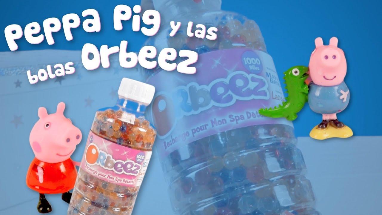 Peppa Pig juega con las bolas Orbeez | Reto con George y Suzy Sheep