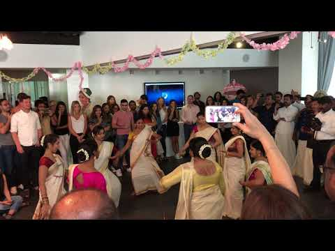 Thiruvathira Raavu Onam Dance At Omnicom Media Dubai OMGrelishOnam