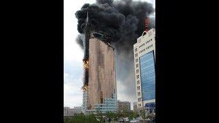 Пожар в Астане экстренное спасение детей