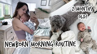 Newborn Morning Routine | REAL LIFE | 2 months old!