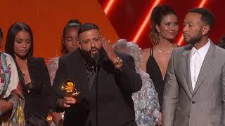 Menang, DJ Khaled dan John Legend Persembahkan Piala 'Grammy Awards' untuk Nipsey Hussle