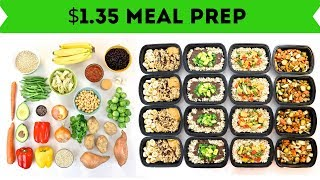 30 Meals for $40 in 90 Minutes || Plant-Based Vegan Meal Prep
