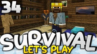 THE PERFECT BEDROOM!!! - Survival Lets Play Ep. 34 - Minecraft Bedrock (PE W10 XB1)