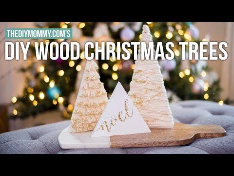 DIY MINI WOOD TREE DECORATIONS | Christmas DIY & Decor Challenge 2017
