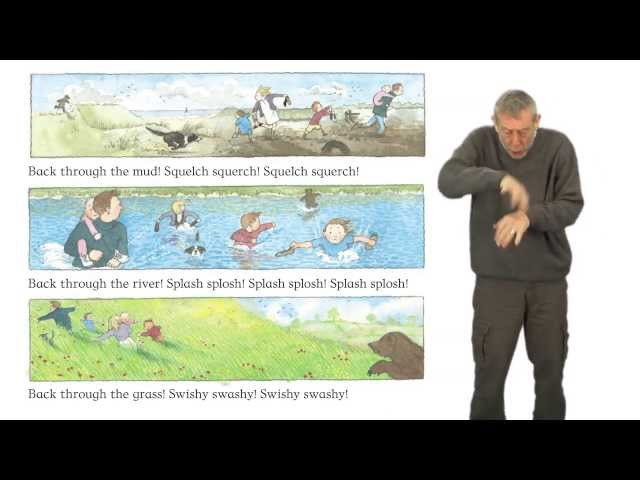 Michael Rosen performs We're Going on a Bear Hunt