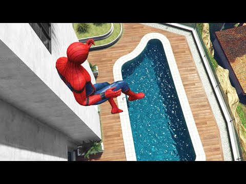GTA 5 Epic Ragdolls | SPIDERMAN ep.51 (Euphoria Physics)