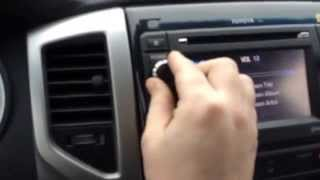 2013 Toyota Tacoma sound system and navigation demo