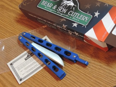 The Best Budget Balisong ?  Bear & Son Butterfly Knife 114BL