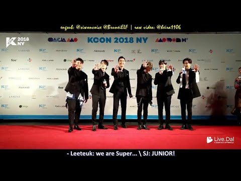 ENGSUB] 180624 KCON 2018 NY Red Carpet (Super Junior) - ELFarah