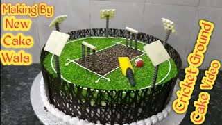 Cricket Ground How To Make Full Cake Making By New Wala