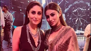 Mouni Roy had a fan girl-moment as she poses with Kareena Kapoor on the sets of Dance India Dance