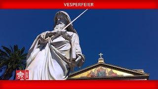 Papst Franziskus - Vesperfeier 2019-01-18